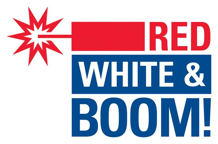 The Red White & Boom fireworks show starts at 10 p.m. on July 3.