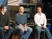 From left, Jose Tomas De Luna, industrial designer for GE Appliances; chief marketing officer Eddie Martin; and Lou Lenzi, director of design for GE Appliances, discussed the new Artistry line of appliances.