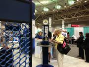 Best Buy Co. Inc. provided attendees with phone-charging stations.
