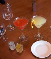 The bar features signature cocktails along with traditional fare, such as the Apartment 4D (right) and the VIP (right).