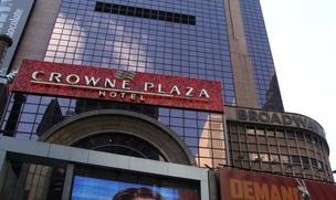 The Crowne Plaza Hotel at Times Square.