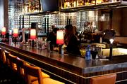 The rennovated space features a full bar.