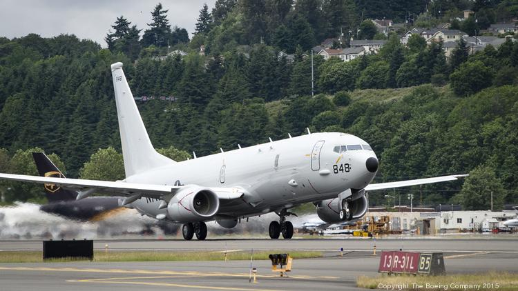 The 25th P-8A Poseidon aircraft takes off from Boeing Field June 2, embarking on the five-hour ferry flight to Naval Air Station Patuxent River, Maryland,