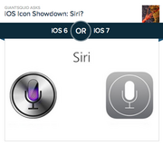 #4 most-hated app design: Siri  Siri is Apple's friendly answer to HAL 9000, cheerfully telling us jokes, warning us not to gamble, waxing poetic on the meaning of life and suggesting places to hide the body in our trunk. Siri's original app design looks like a chrome button with vibrant purple LEDs inside of it, just waiting to fire up. The new app design is a dull gray, with a white microphone icon surrounded by a circle. Of the 6,106 people who voted on Polar, 55.5 percent preferred the old design.