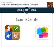 #5 most-hated app design: Game Center  Apple's Game Center icon won't win any design awards, but it's utilitarian. There's a chess piece, a white baseball bat, a rocket ship and a dartboard. While it may not be immediately clear what the app does, someone seeing the icon for the first time could probably guess it had something to do with games. The new app trades utility for abstract blue, yellow, purple and pink glass baubles that look more at home on a detergent box than a gaming achievement platform. Of the 18,698 people who voted on Polar, 54.5 percent preferred the old design.