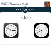#1 most-liked app design: Clock  Intriguing choice for #1 most-liked app design, Polar voters. The old Clock app and the new Clock app are nearly identical. Of the 26 apps that the company redesigned, this is the one that's remained pretty much untouched. In the original, the clock's hands are a bit chunkier and set to 10:15. The new clock has thinner hands and is set to 9:41 and 30 seconds. Fun Easter egg here: Observant Apple fans may have noticed that in every Apple commercial, the time on the iPhone or iPad is set to 9:41 or 9:42. In 2010, Network World cracked the code, learning that Apple designs product launches so that the big reveal happens somewhere between 41 and 42 minutes into the keynote address. For the new Clock app, they split the difference, coming up with 9:41 and 30 seconds. Of the 18,140 people who voted on Polar, 82.3 percent prefer the new design.