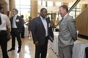 From left: Edward Bryant, Coed Electrical and Metrolina Minority Contractors Association; and Matt Kern, HF Financial