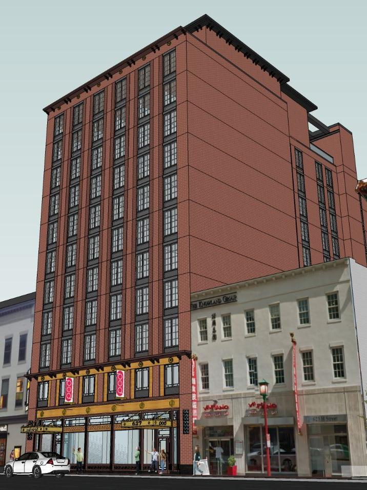 A Rendering Of The Pod Hotel Planned For 627 H St Nw In Heart