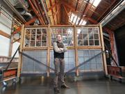 Gray Madden, president of Filson, stands in an open space in his company's soon-to-be-renovated headquarters building in the SODO neighborhood of Seattle, Washington on June 8, 2015.