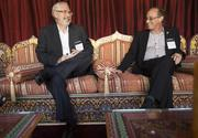 Lean Startup author Steve Blank, left, and Google engineering chief Ray Kurtzweil before the festivities kicked off.