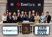 EverBank executives celebrate going public May 3 last year by ringing the bell at the New York Stock Exchange.