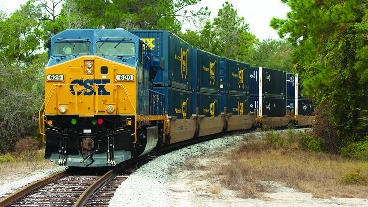 Railroads including CSX Corp. have captured new profits by taking container freight off trucks and onto trains.
