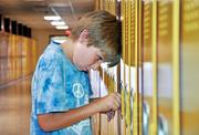6th grade student Ethan Stevens at Sand Creek Middle School in the South Colonie Central School District.