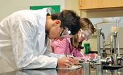 Saratoga Springs High School, AP chemistry class students Allan Anderson and Abigail Bishop.