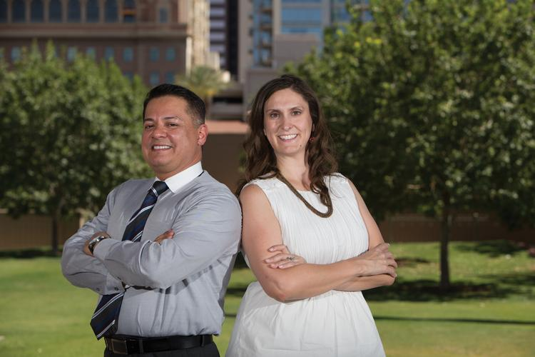 Valley Leadership Board President Tony Moya, left, and Executive Director Christy Moore  are helping to groom the next generation of leaders who will serve Phoenix and Arizona.