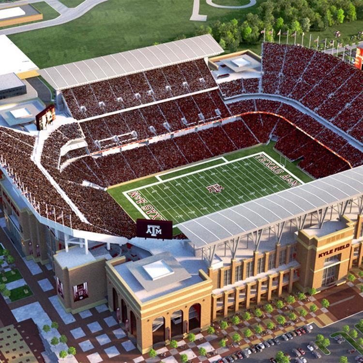 Rendering of Texas A&M's planned expansion and renovation of Kyle Field.