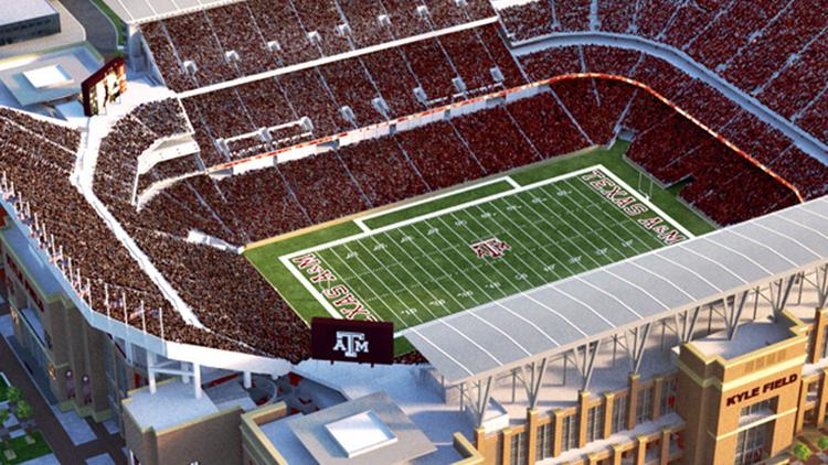 Texas A&M's planned expansion and renovation of Kyle Field includes more seats.