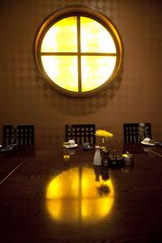 A private dining area at Blu.