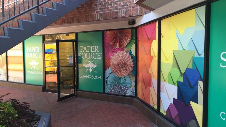 Paper Source, a stationery store, will open next week.