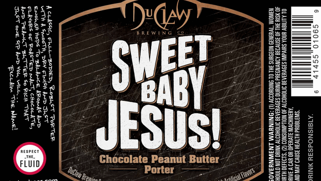 DuClaw's Sweet Baby Jesus brew has been pulled from the shelves of a grocery store chain in Ohio.