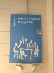 Wigle is named after a major figure of the Whiskey Rebellion that happened in Western Pennsylvania in the 1700s. The Wigle Whiskey distillery offers tours of the facility which tells of the story of Phillip Wigle, using panels such as this.