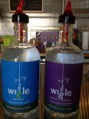 Wigle's established label to the left. The business is transitioning to the new bottle and label on the right, to showcase it as an organic product after Wigle completed its organic certification a few months ago.