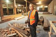 'The last of the Mohicans': Scott Haskins is renovating the warehouse at 460 Bryant.