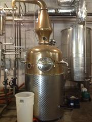 The still itself at Wigle Whiskey, custom made and imported from Germany.