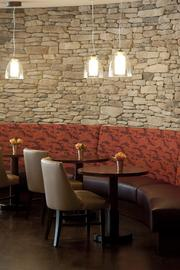 Charr'd features several dining and socializing areas.