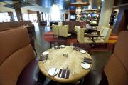 Dining area at Charr'd.