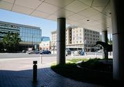 Sacramento Corporate Center entrance on J Street will one day face the new arena.