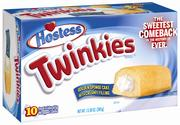 "New Twinkies boxes will be emblazoned with the tagline ""The Sweetest Comeback In the History of Ever."""