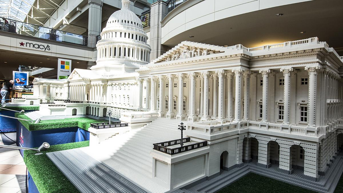 White House U S Capitol Built Of Lego Bricks Visit
