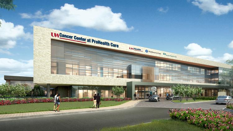 new pewaukee cancer center branded with uw prohealth names