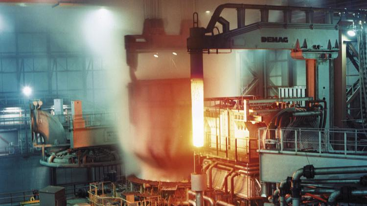 an electric arc furnace operated by arcelormittal