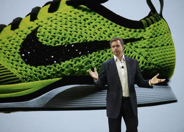 "Nike CEO Mark Parker said innovation was a big driver in what he called a ""great"" fiscal year."