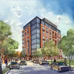 Stadium Square to top out first office building