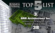 3. BRR Architecture Inc., Merriam, Kan., 38 local architects