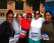 Cyberonics Inc. Pictured from left to right are N.J. Crawley, Sally Jacob, Lezanne Pugh, Joann Burnside and Joan Ceaser before the Houston Rodeo 5K Fun Run.