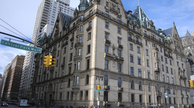 The Exterior Of Dakota Apartment Building Is Shown On Central Park West In New York