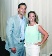 Fast Tracker Christopher Guandolo of Janney Montgomery Scott LLC and his wife, Erica.