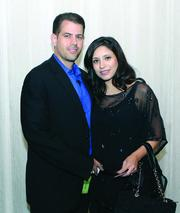Fast Tracker Bryan Tamburro of International Electric Power and his wife, Annie, of Courtyard Marriott Cranberry.
