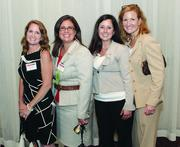 Fast Tracker Lori Lecker, second from left, of Alcoa, with Buchanan Ingersoll & Rooney PC's Tracie Gliozzi, far left, Katie Kozora, third from left, and Kerstin Schuler.