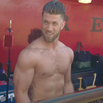 Keep your eye on the bat: Bryce <strong>Harper</strong> primps for ESPN The Magazine Body Issue