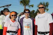 No. 2: Ascend Performance Materials Score: 90.663 Pictured from left to right: Janet Noble, Kathleen Young and Roy Noble at the Double Bridge Run in Pensacola, Fla.