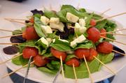 Guests also enjoyed fresh Caprese skewers.