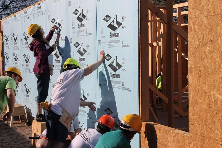 WellCare Health Plans Inc. Employees work on  project for Habitat for Humanity.