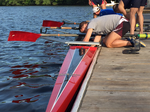 Imagine rowing the Charles River on a warm summer night in a sleek new