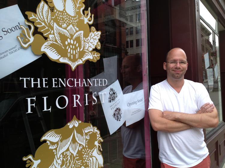 Louis Bannister is opening The Enchanted Florist at 54 Columbia St. in downtown Albany