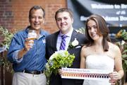 Kate and John Helter tied the knot during the event. A justice of the peace was on-hand to toast to love, and the Love of Beer, with Samuel Adams Founder and Brewer Jim Koch who filled in as Best Man for the day's nuptials. In total, there were six weddings, three vow renewals and one engagement that took place on site.